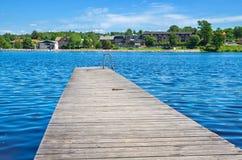 Lagan-Fluss Stromsnasbruk, Schweden Lizenzfreies Stockfoto
