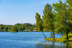 Countryside. Sweden. Lagan river in Stromsnasbruk. Sweden, Europe Stock Photography