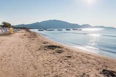 Laganas beach on Zakynthos Island Stock Image