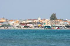 Laganas resort on Zakynthos island Stock Images
