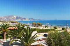 Laganas, Zakynthos. View of the beach in Laganas, Zakynthos Stock Photos