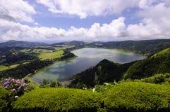Lagao делает Furnas, Sao Мигель, Азорские островы стоковые фотографии rf