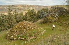 Lagar antiguo para mantener fresco los vinos y la comida Medinaceli fotos de archivo libres de regalías