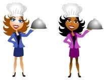 lagar mat goda professional kvinnor vektor illustrationer