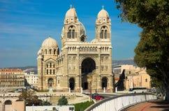 LaGarde basiliek van Notre-Dame DE in Marseille Stock Foto