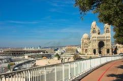 LaGarde basiliek van Notre-Dame DE in Marseille Royalty-vrije Stock Afbeelding