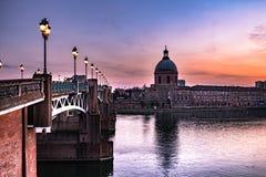 Lagaronne flod Frankrike arkivfoto