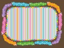 A lagarta dos desenhos animados listra o frame Fotos de Stock Royalty Free
