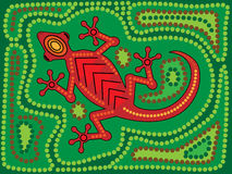 Lagarto aborígene Fotografia de Stock