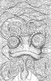 Lagarto ao estilo de Van Gogh Imagens de Stock Royalty Free