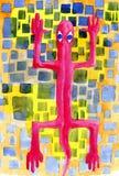 Lagarto de rubíes Imagen de archivo libre de regalías