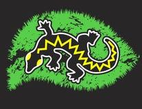 Lagarto negro del gecko Imágenes de archivo libres de regalías