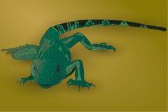 Lagarto verde realista Imagen de archivo