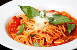 lagat mat nytt plate spaghe Arkivfoton