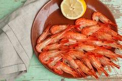 Lagat mat skaldjuruppläggningsfat Royaltyfria Foton