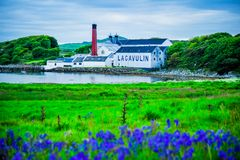 The Lagavulin Distillery. The famed Lagavulin Distillery on the Isle of Islay, Scotland stock image