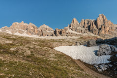 Lagazuoi mountains in Dolomites Stock Photo