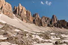 Lagazuoi range in Dolomites Stock Photos