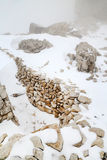 Lagazuoi war scene, Dolomites, Italy Royalty Free Stock Photos