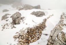 Lagazuoi war scene, Dolomites, Italy Royalty Free Stock Image