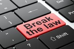 Lagbegrepp: Bryt lagen på bakgrund för datortangentbord royaltyfri illustrationer