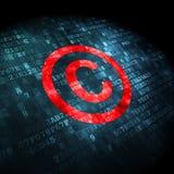 Lagbegrepp: Copyright på digital bakgrund Royaltyfri Fotografi