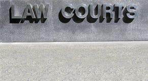 Lagdomstolar undertecknar in rostfritt stål Royaltyfri Bild