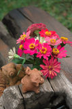 Lage en bois de fleur Images stock