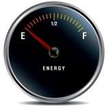 Lage energie, de brandstofmaat van het bloedarmoedeconcept royalty-vrije illustratie