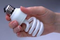 Lage Energie Lightbulb royalty-vrije stock afbeeldingen