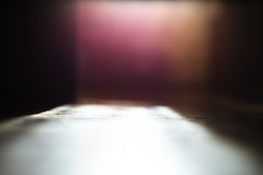 Lage het perspectief bokeh achtergrond van de hoekvloer Stock Foto