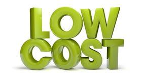 Lage kosten vector illustratie
