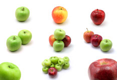 Lage page apples. On white background royalty free stock photos