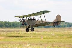 Lage pas van retro vliegtuig Stock Afbeelding