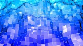 Lage poly abstracte achtergrond met moderne gradiëntkleuren Blauwe en diepe blauwe 3d oppervlakte V1 Royalty-vrije Stock Afbeeldingen