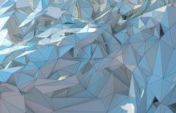 Lage poly abstracte tekening Royalty-vrije Stock Afbeeldingen