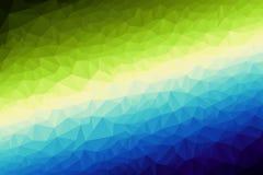 Lage poly Donkerblauwe en Kalk abstracte achtergrond, het Veelhoekige ontwerp die van de patroontextuur met de hand schrijven Royalty-vrije Stock Fotografie