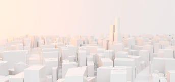 Lage Poly Moderne Stad vector illustratie
