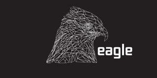 Lage poly van Eagle Royalty-vrije Stock Afbeelding