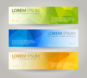 Lage poly vectorbanners Royalty-vrije Stock Afbeelding