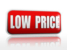 Lage prijsbanner stock illustratie