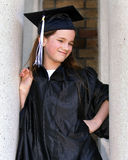 Lage school Grad met Houding stock afbeelding