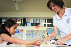 Lage school voor armen in Ecuador. Royalty-vrije Stock Foto