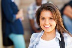 Lage schoolmeisje Royalty-vrije Stock Foto