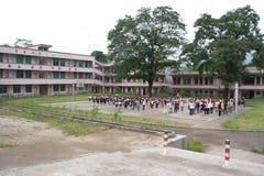Lage schoolstudenten stock foto