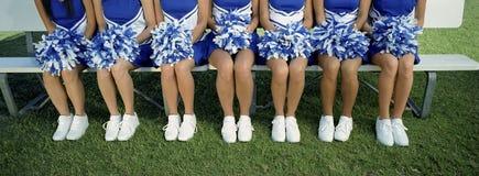 Lage Sectie van Cheerleaders met pom-Pom Royalty-vrije Stock Foto