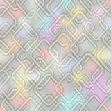 Lage tegenover elkaar stellende achtergrond in pastelkleuren met romboïdale elementen en pastelkleurplonsen op lignt grijs gebied Royalty-vrije Stock Foto