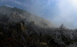 Lage temperatuur van het klippen 's landschap royalty-vrije stock fotografie