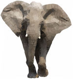 Lage Veelhoekige Olifant Royalty-vrije Stock Afbeelding