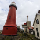 Lage vuurtoren van IJmuiden Lighthouse Royalty Free Stock Images